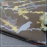 【沃邦】高档高经密色织提花沙发面料 抱枕布料 小鸟梅花提花沙发布料